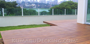 Do you have a waterfront property? Why not go with Kumaru Decking for a long lasting deck surface even when installed near the water front.
