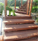 Kumaru Decking creates stairs that are very inviting.