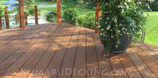Avoid chemicals and preservatives! Choose an all natural decking material such as Kumaru.